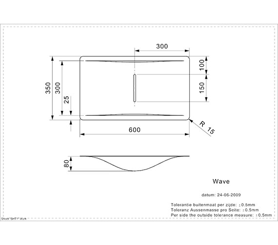 Technical drawing QS-V99094 / WAVE CW
