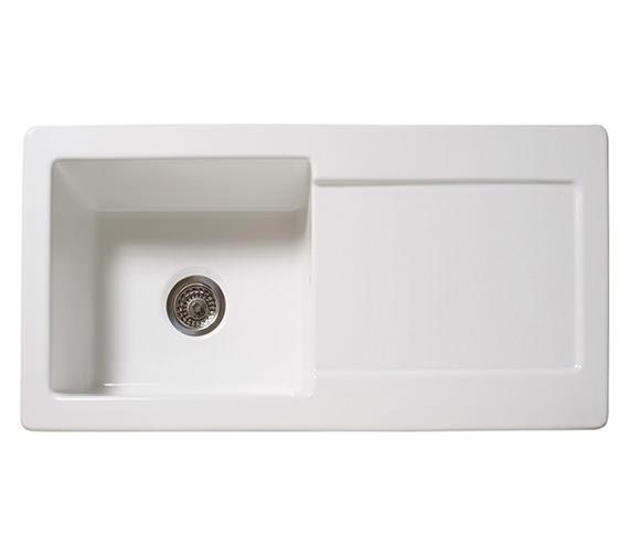 Reginox RL504CW Single Bowl Inset Ceramic Sink 1000 x 500mm