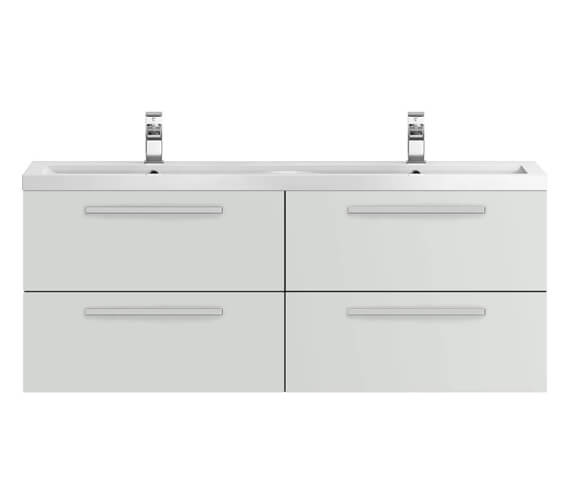 Alternate image of Hudson Reed Quartet 1440 x 510mm Wall Hung Cabinet And Double Basin