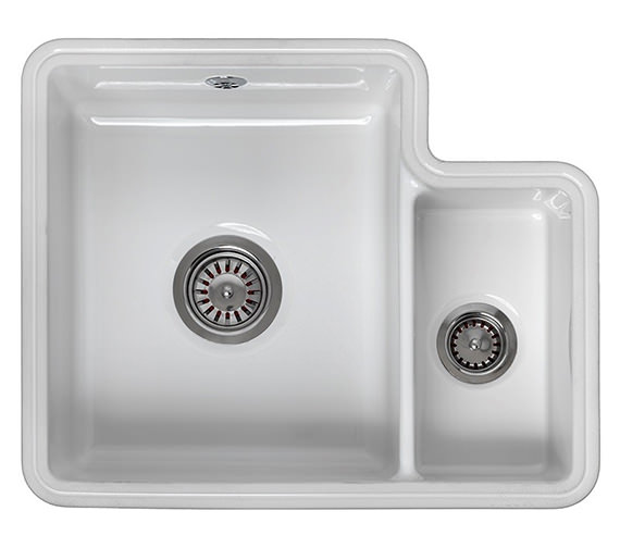 Reginox Tuscany 1.5 Bowl Ceramic Undermount Sink 440 x 545mm