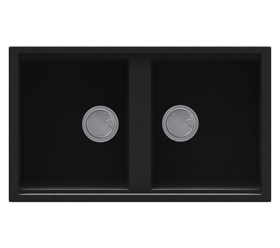 Reginox Best 450 Double Bowl Inset Granite Kitchen Sink 860 x 510mm