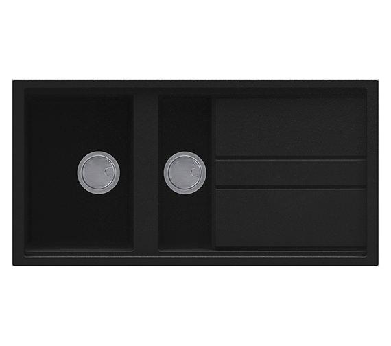 Reginox Best 475 One And Half Bowl Inset Granite Kitchen Sink 1000 x 510mm