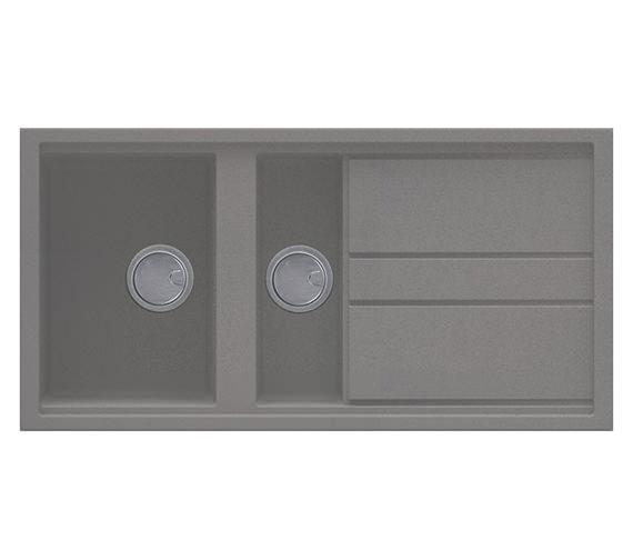 Additional image of Reginox Best 475 One And Half Bowl Inset Granite Kitchen Sink 1000 x 510mm