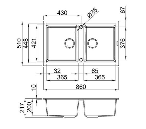 Technical drawing QS-V99098 / BEST 450 B