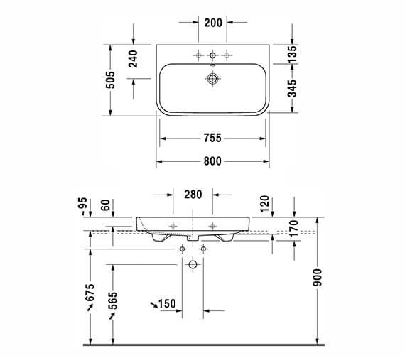 Technical drawing QS-V14500 / 2318600027