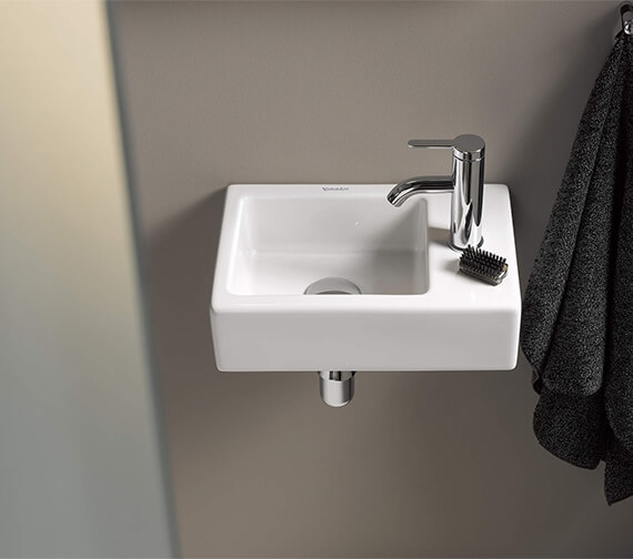 Duravit Vero Air 380 x 250mm Furniture Handrinse Basin With Right Hand Side Taphole