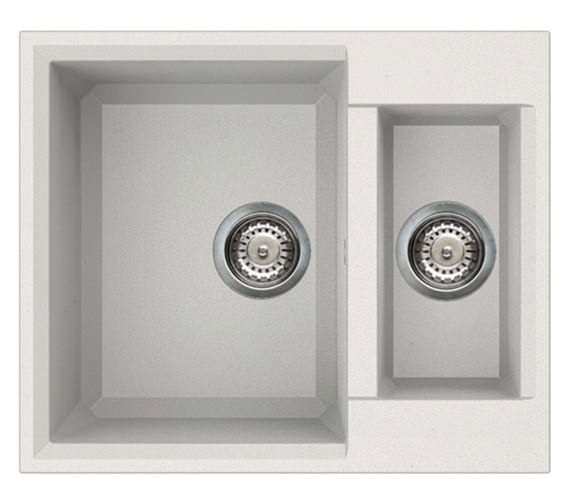 Reginox Easy 150 One And Half Bowl Inset Granite Kitchen Sink 600 x 500mm