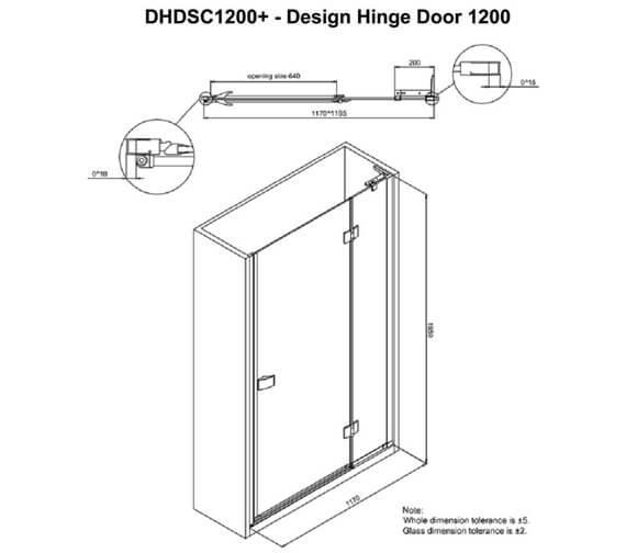 Technical drawing QS-V99618 / DHDSC0700+