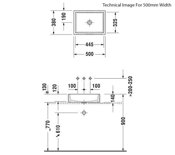 Technical drawing QS-V33552 / 2351500000