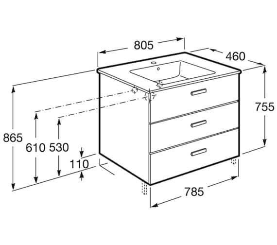 Technical drawing QS-V100044 / 857074806