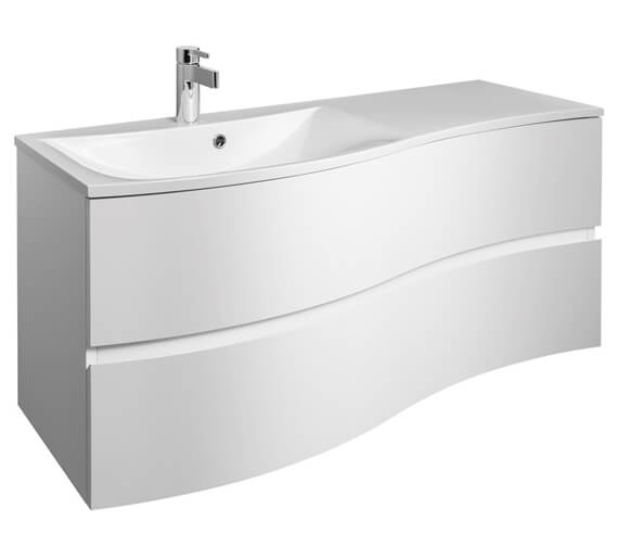 Crosswater Svelte 1200 x 520mm 2 Drawer Unit With Basin