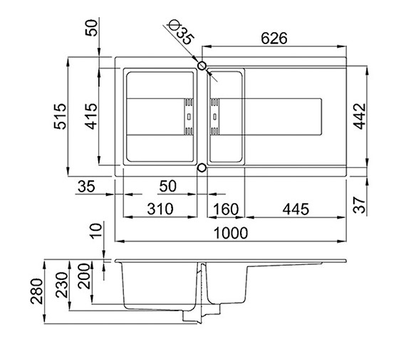 Technical drawing QS-V99105 / SMART 475 W