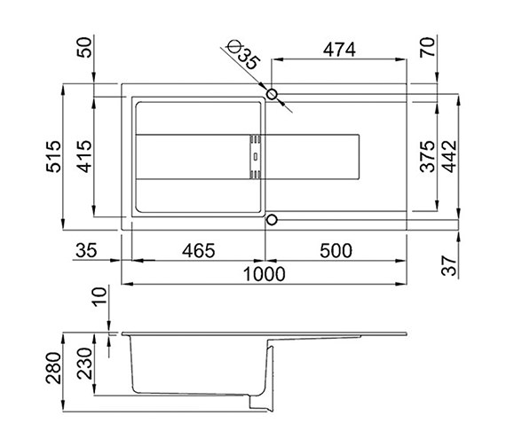 Technical drawing QS-V99106 / SMART 480 W