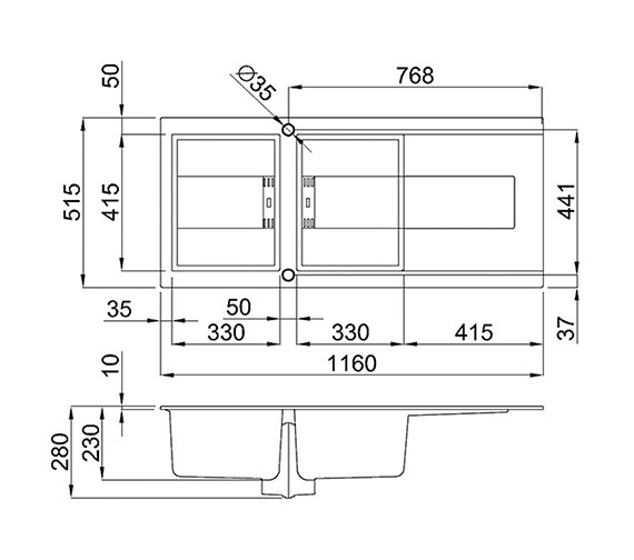 Technical drawing QS-V99107 / SMART 500 W