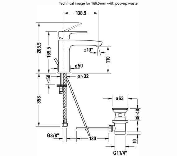 Technical drawing QS-V82656 / B11010002010