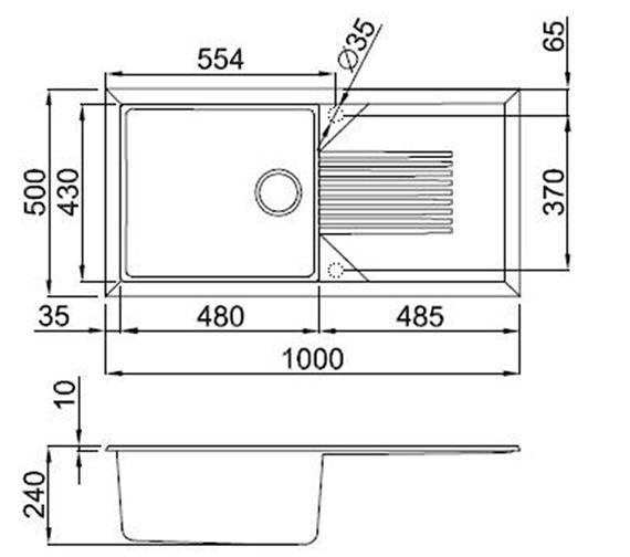 Technical drawing QS-V99108 / TEKNO 480 W