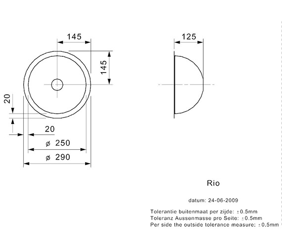 Technical drawing QS-V99110 / RIO