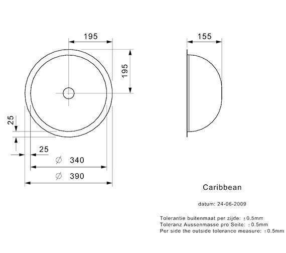 Technical drawing QS-V99111 / CARIBBEAN L