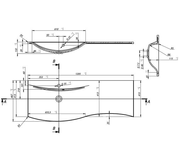 Technical drawing QS-V88671 / SE1200DWG