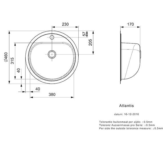 Technical drawing QS-V99113 / ATLANTIS L