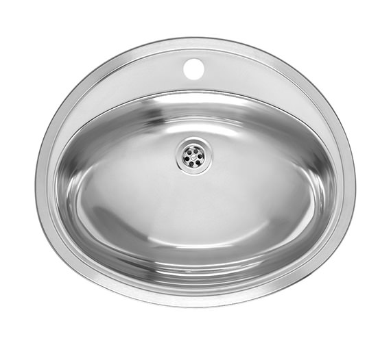 Reginox Pacific 570 x 480mm Stainless Steel Inset Sink Without Overflow
