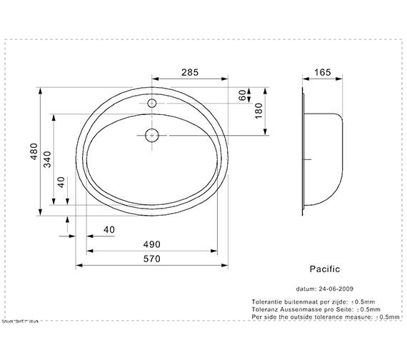 Technical drawing QS-V99114 / PACIFIC SP H NOF