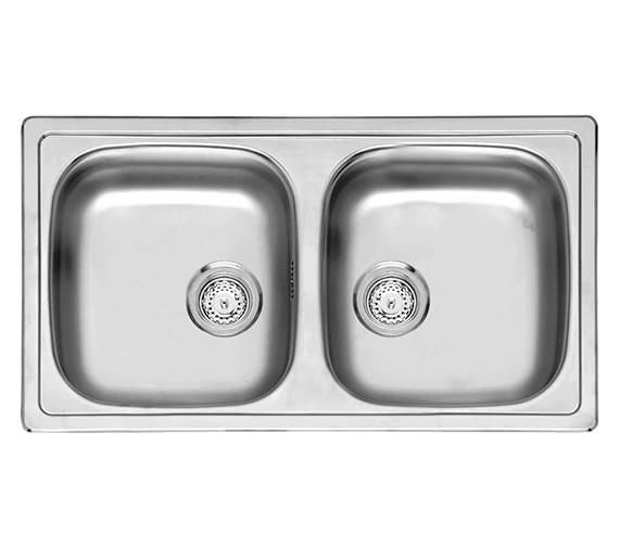 Reginox Beta 20 Double Bowl Stainless Steel Inset Sink 780 x 430mm