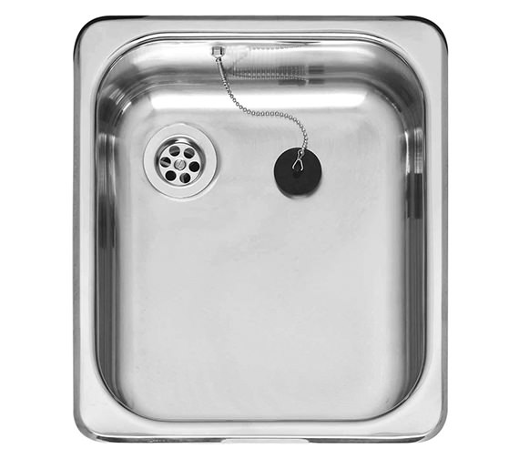 Reginox R18 3530 Single Bowl Stainless Steel Inset Sink 350 x 398mm