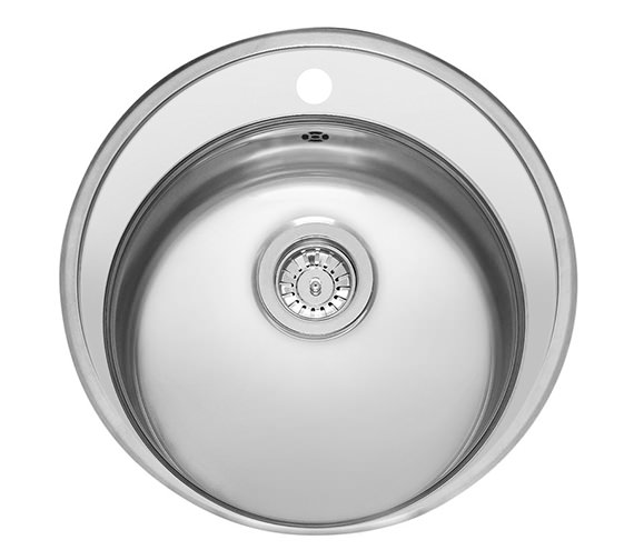 Reginox Moscow 520mm Stainless Steel Round Bowl Inset Sink