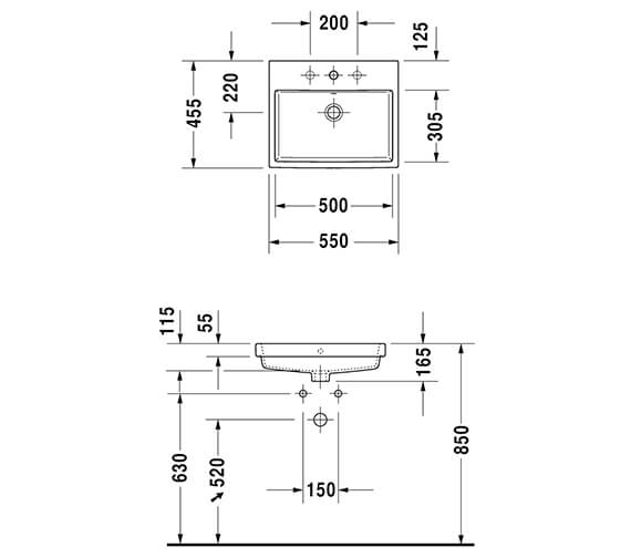 Technical drawing QS-V89450 / 0383550060