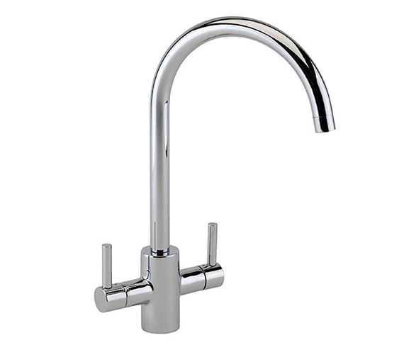 Reginox Genesis Dual Lever Kitchen Mixer Tap - Chrome