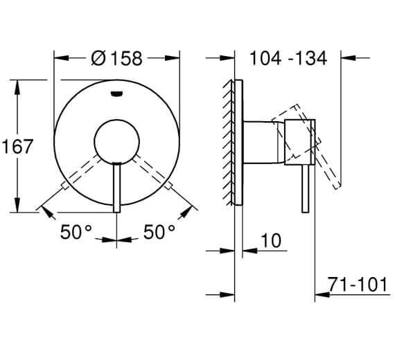 Technical drawing QS-V95877 / 24065003