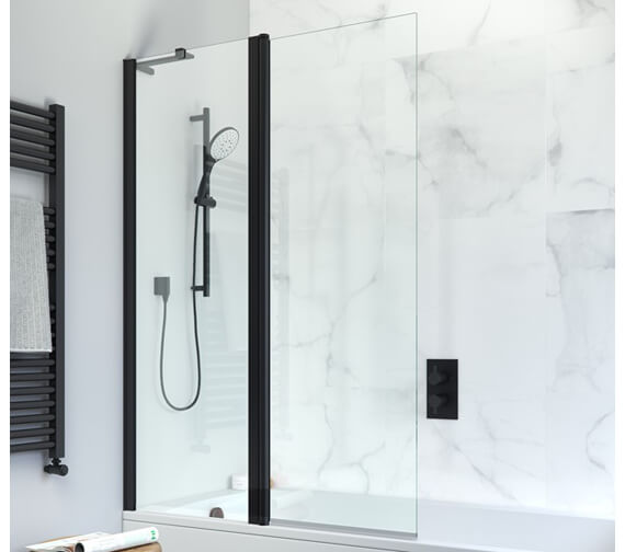 Alternate image of Crosswater Design Plus 1060 x 1500mm Frameless Double Bath Screen - Outward Opening