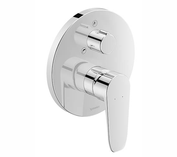 Duravit B.1 Round Concealed Manual Bath Mixer Valve With Diverter