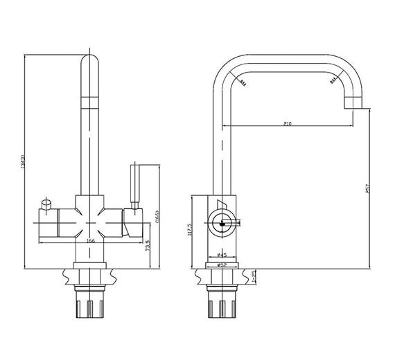 Technical drawing QS-V99136 / AMANZI CH