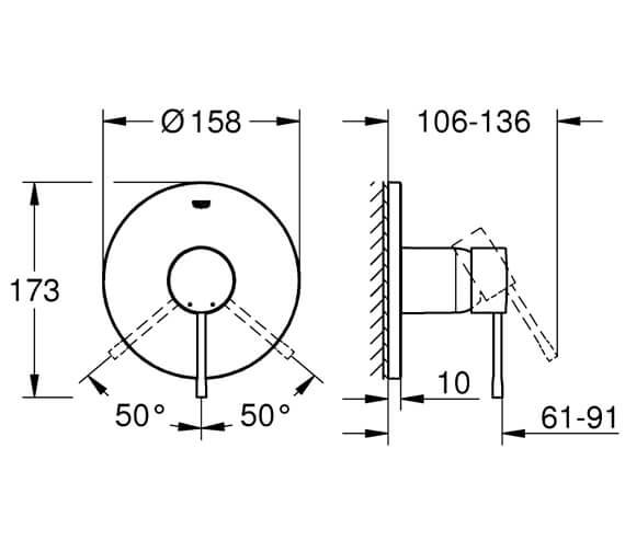 Technical drawing QS-V95881 / 24057001