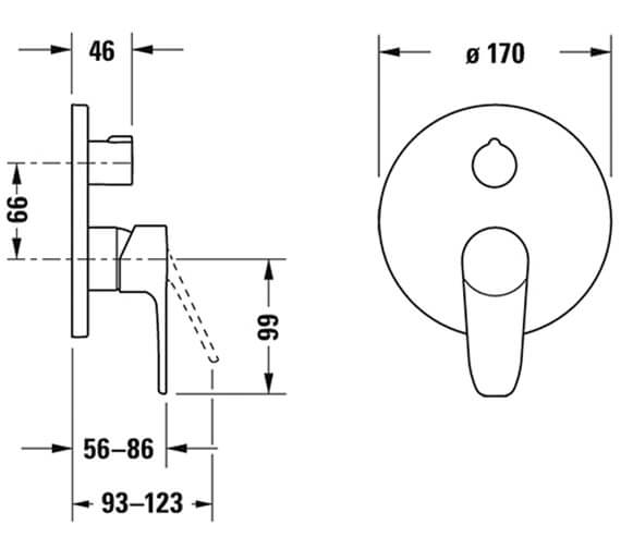 Technical drawing QS-V82665 / B15210012010
