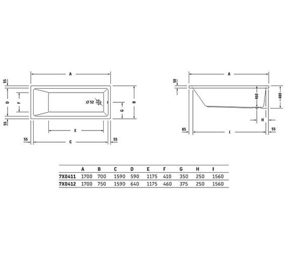 Technical drawing QS-V33575 / 700419000000000