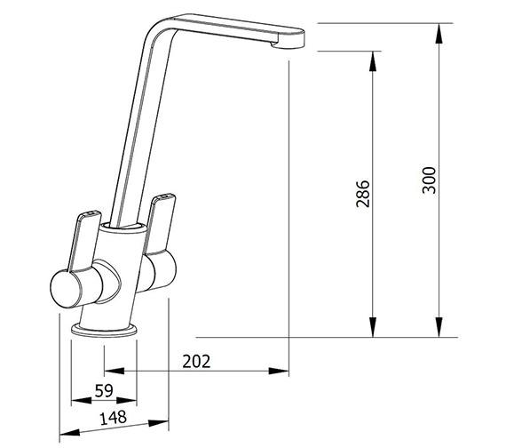 Technical drawing QS-V99135 / ALPINA CH