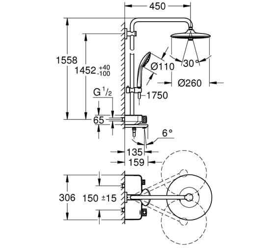 Technical drawing QS-V95883 / 26510000