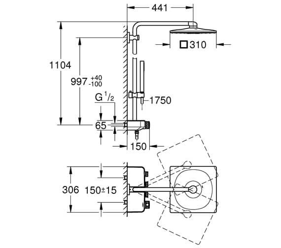 Technical drawing QS-V95884 / 26508000