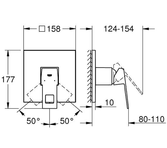 Technical drawing QS-V95890 / 24061000