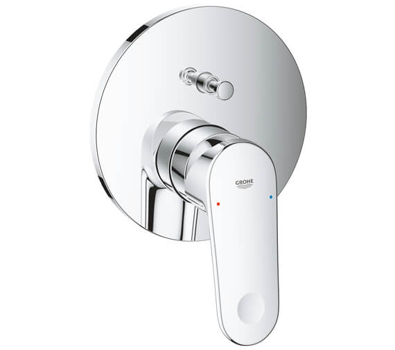 Grohe Europlus Chrome Single Lever Mixer Valve With 2 Way Diverter