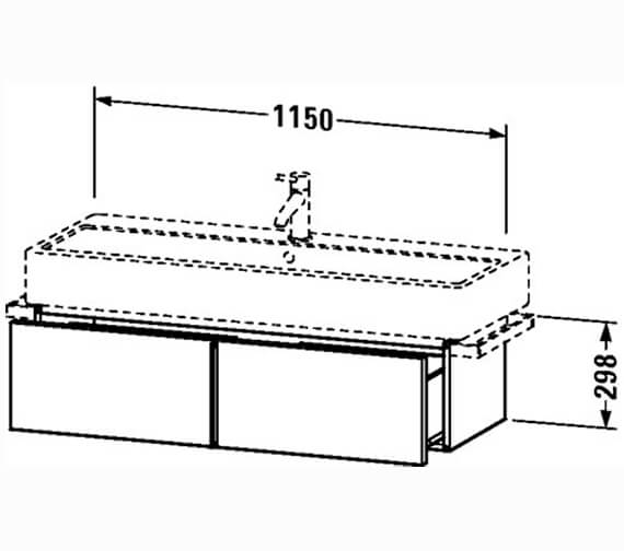 Technical drawing QS-V4306 / VE610301818