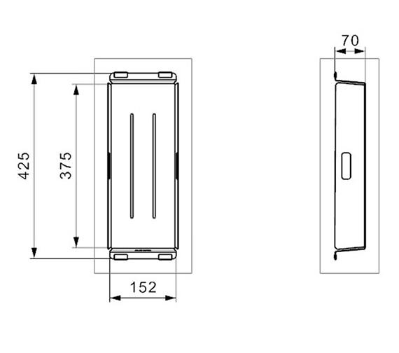 Technical drawing QS-V99170 / R 3001 GUN METAL COL