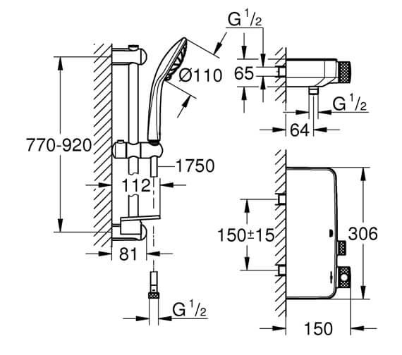 Technical drawing QS-V88672 / 34720000