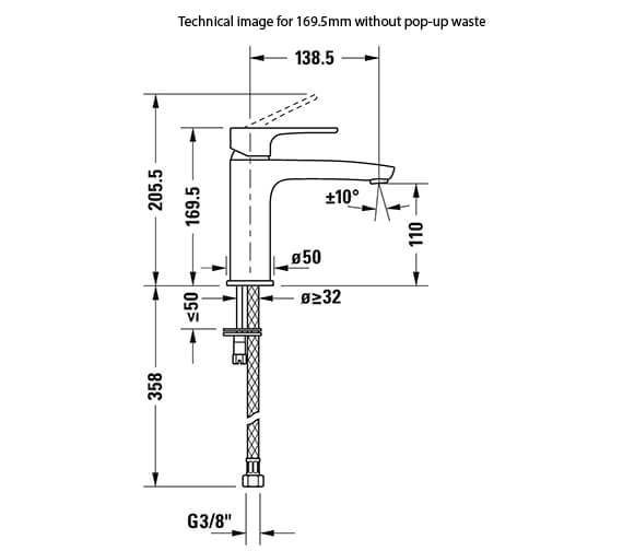 Technical drawing QS-V82656 / B11010002010