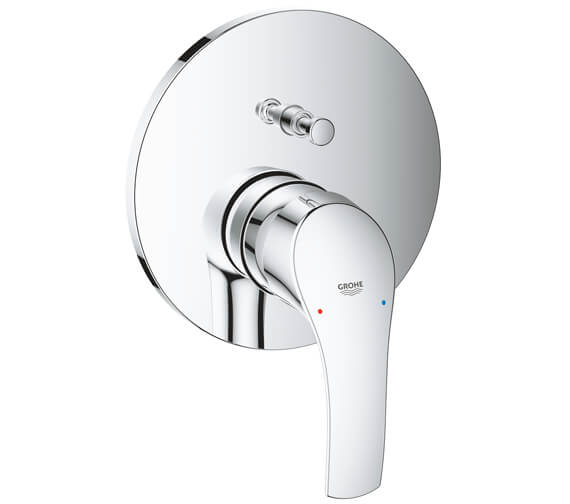 Grohe Eurosmart Chrome Single Lever Mixer Valve With 2 Way Diverter