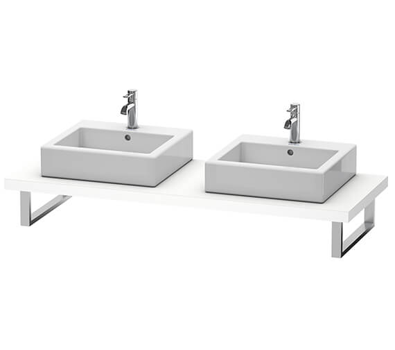 Duravit Vero Air 550mm Depth Console With 2 Cut-Out For Above Counter And Countertop Basin