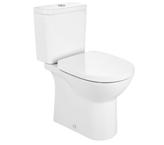 Roca Debba Rimless Open-Back Close Coupled Round Toilet